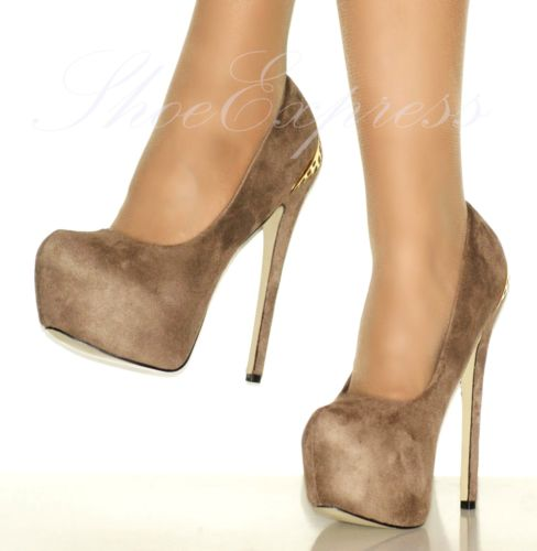 WOMENS/d/beige,gold detailed/HIGH HEEL PLATFORM COURT SHOES- SIZEUK 2-7,EU35-40 | Amazing Shoes UK