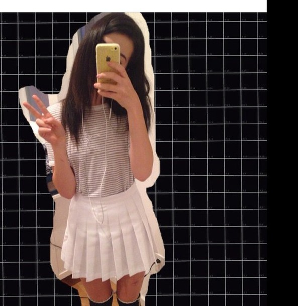 skirt grunge white skirt