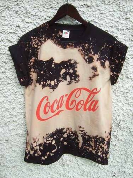 shirt coke acid wash tie dye coca cola t-shirt