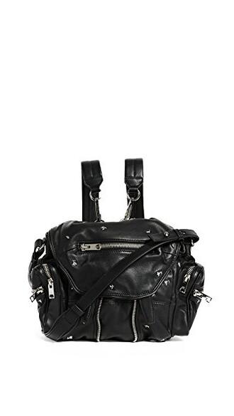 mini backpack black bag