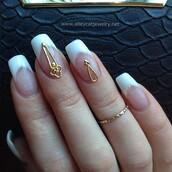 nail accessories,nails,nail jewelry,gold,nail shields,nail cover,french nails,french tips,alleycat jewelry,alleycat nail jewelry,nail jewellery,handmade jewelry,nail armour,french tip nails,nail charm,nail charms
