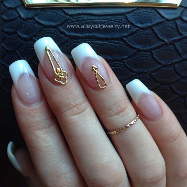 nail accessories, nails, nail jewelry, gold, nail shields, nail ...