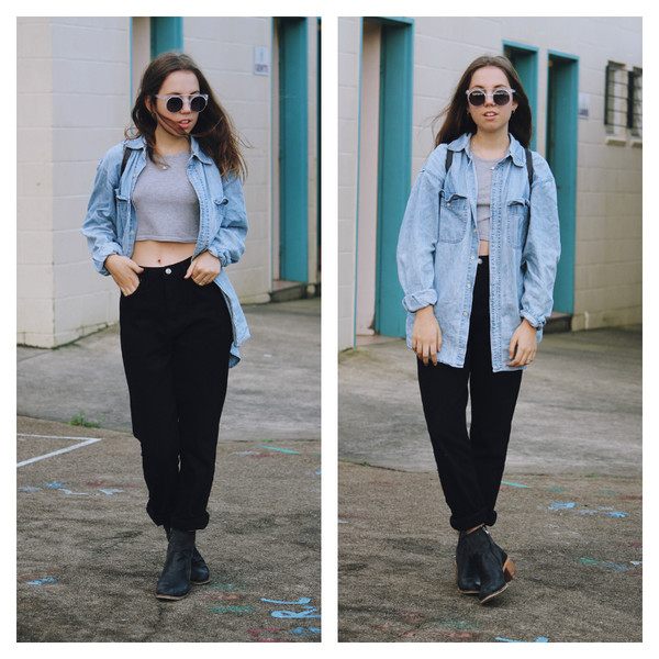 views of now top jeans sunglasses shoes jewels