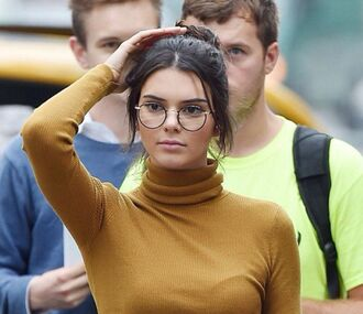tank top sunglasses glasses kendall jenner round frame glasses pants kendall and kylie jenner