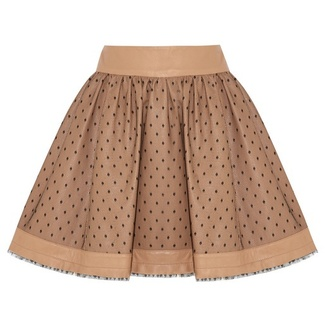 shirt skirt taupe skirt polka dots