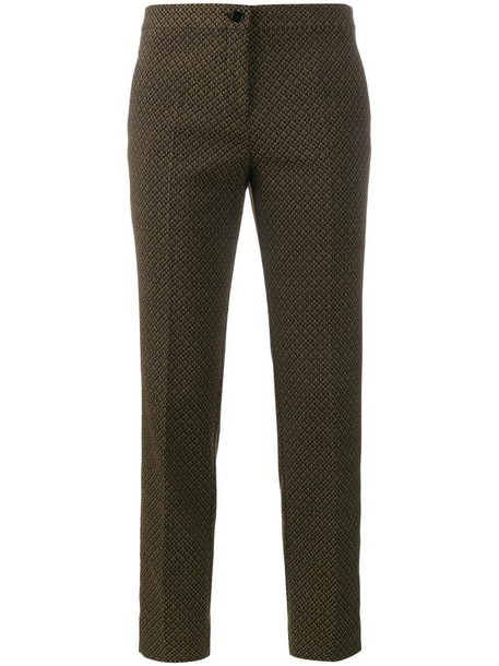 women spandex jacquard cotton black pants