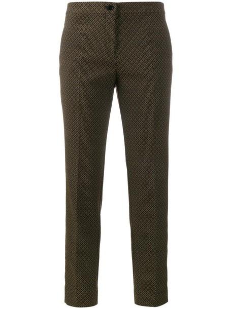 ETRO women spandex jacquard cotton black pants