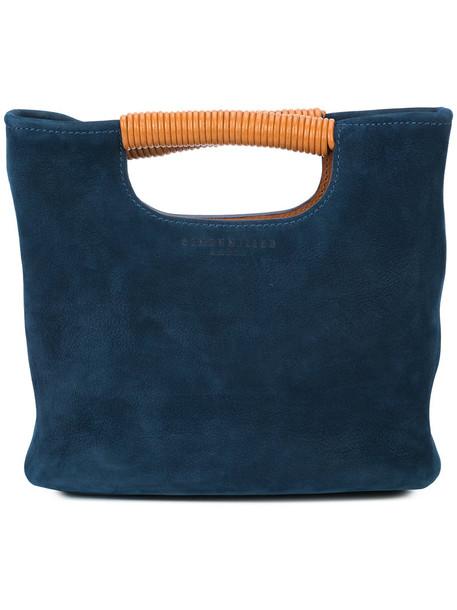 Simon Miller mini women bag bucket bag leather blue