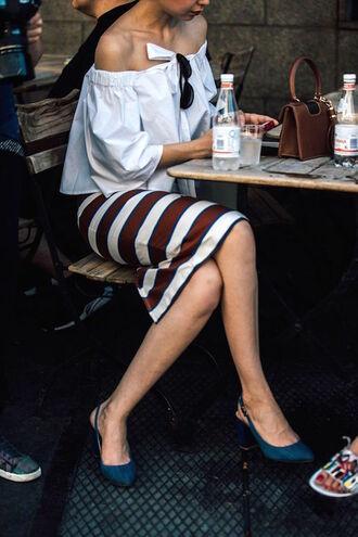 le fashion blogger shirt top blouse skirt