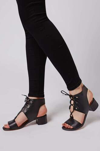 shoes black sandals sandals lace up sandals