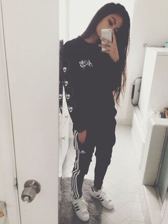 sweater sweat jogging pants sweatpants superstars shoes adidas iphone
