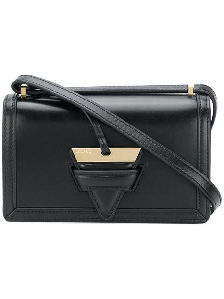 LOEWE women bag shoulder bag leather black