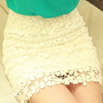 White A line Flowers Crochet Skirt-in Skirts from Apparel & Accessories on Aliexpress.com
