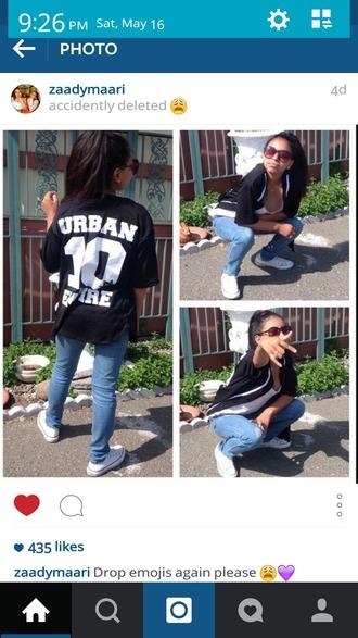 shirt jersey urban black white