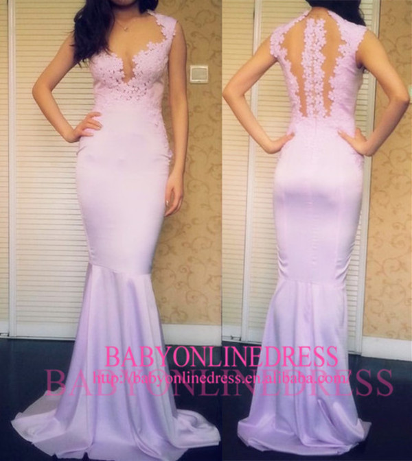 mermaid long prom dress