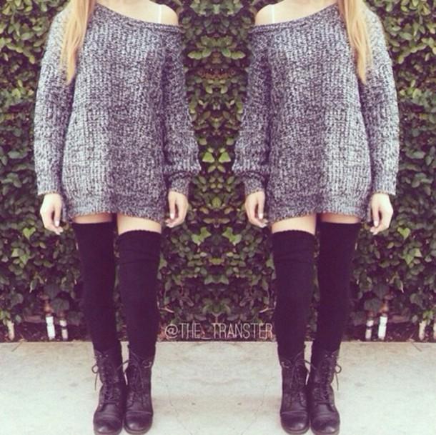 bea73362fa2a blouse, sweater, dress, shoes, knee high socks, boots, kylie jenner ...