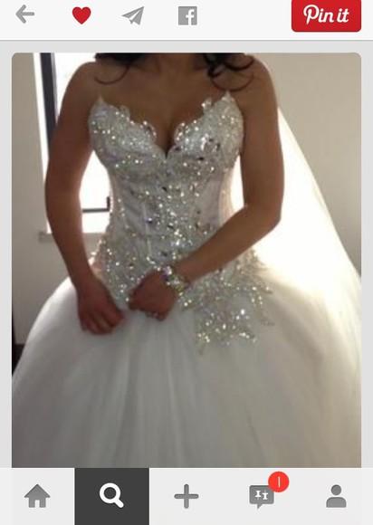 wedding dress bling sparkly dress