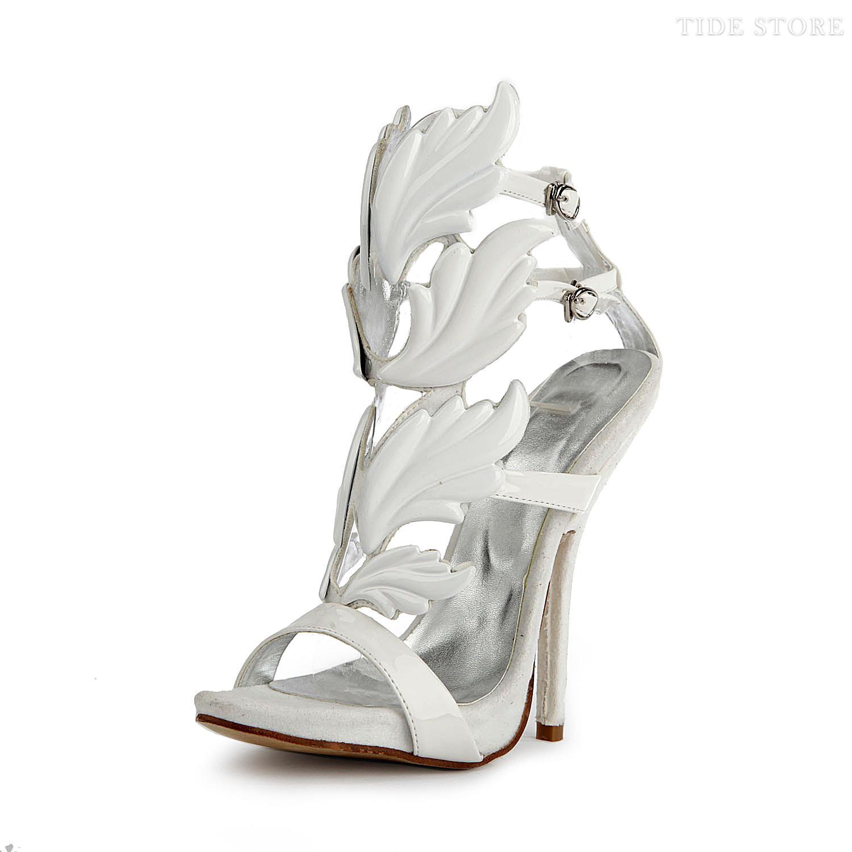 White Patent Material High Heels Women Pumps: tidestore.com
