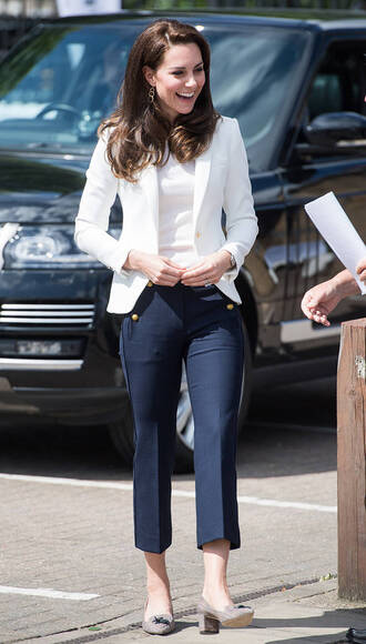 pants spring outfits kate middleton top blazer jacket fancy pants