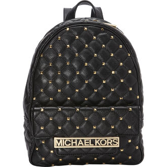 bag backpack studded studded backpack michael kors black black backpack gold