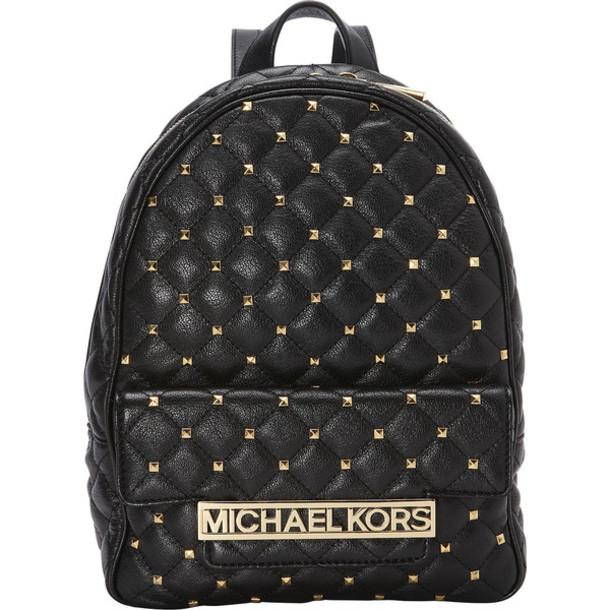 7ca7f9bc90d557 bag backpack studded studded backpack michael kors black black backpack gold