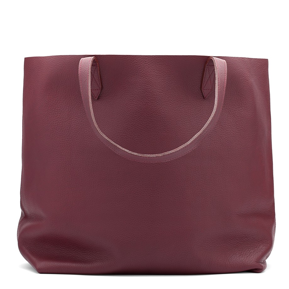 Leather Tote Burgundy | Cuyana Shop