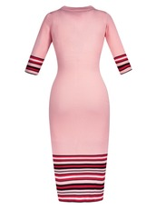 dress,pink dress,new,long,stripes,tight,bodycon,bodycon dress,pink bodycon dress,sleeves,pink
