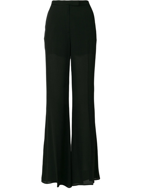 pants palazzo pants women black silk