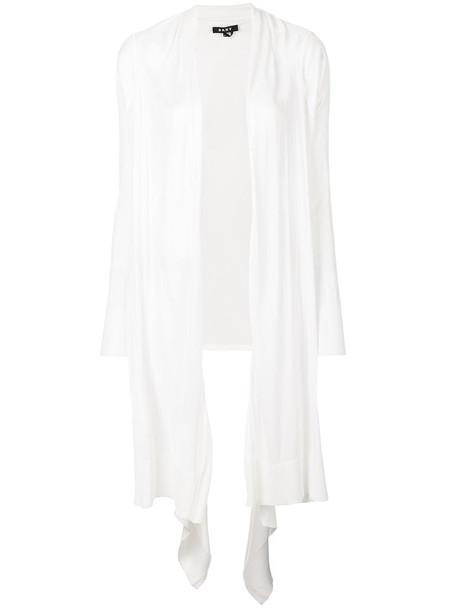 cardigan cardigan long women draped white sweater