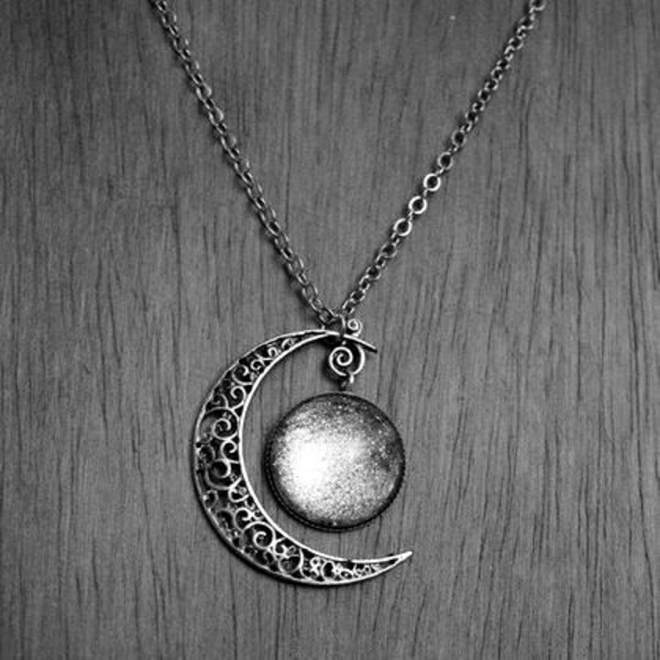 jewels moon silver necklace blue moon phases gypsy moon necklace