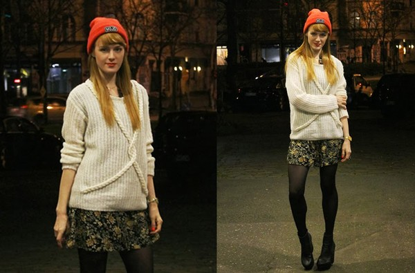 vicky's mode blog sweater dress shoes hat jewels