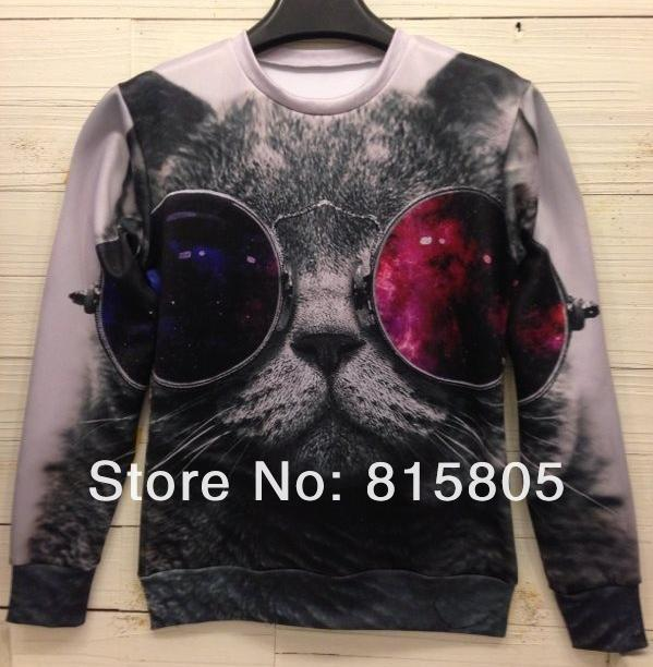 New 2013 Women/Men Space Galaxy Foods Fruits Hoodies Sweaters Pullovers Tiger Wolf Cartoon 3D Animal Sweatshirts Tee Tops TShirt-in Hoodies & Sweatshirts from Apparel & Accessories on Aliexpress.com