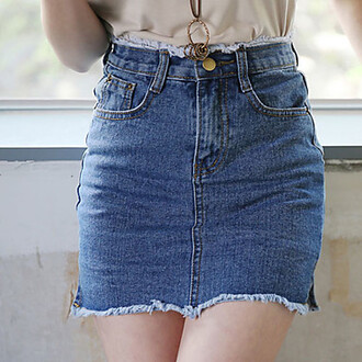 skirt summer dress casual dress pockets washed jeans wrap skirts