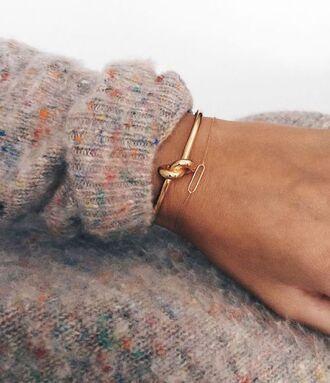 jewels jewelry bracelets gold winter sweater