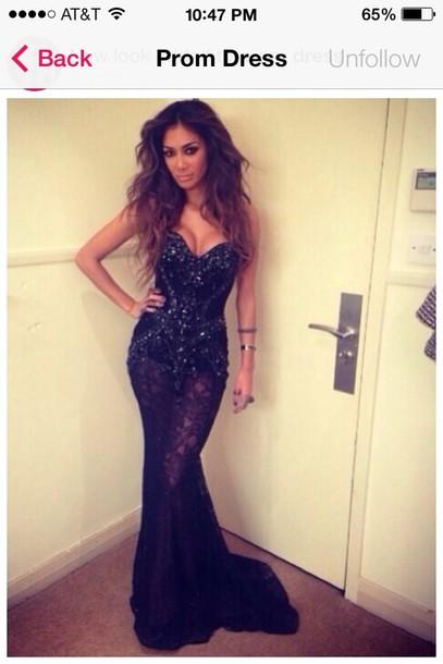 dress mermaid prom dress black dress
