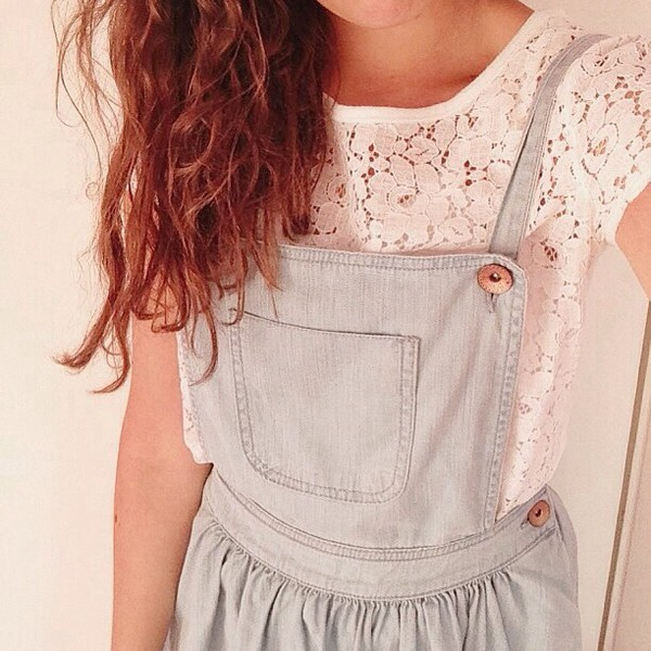 shirt lace shirt overalls jeans lace tumblr denim overalls white shirt
