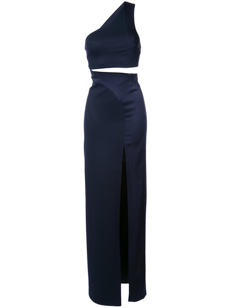 Galvan gown women blue dress