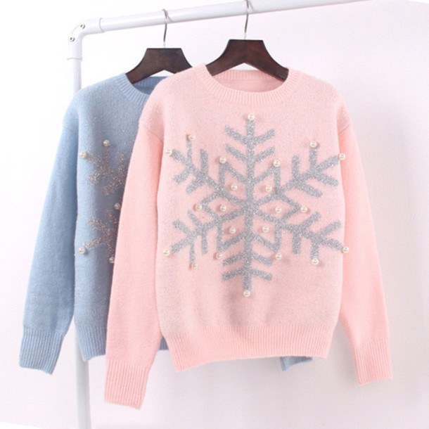 Sweater Christmas Christmas Sweater Baby Pink Baby