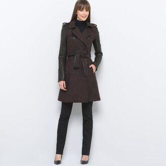 coat manteau trench coat laine chaud