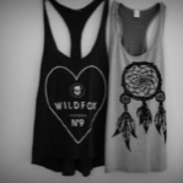 tank top t-shirt shirt black grey