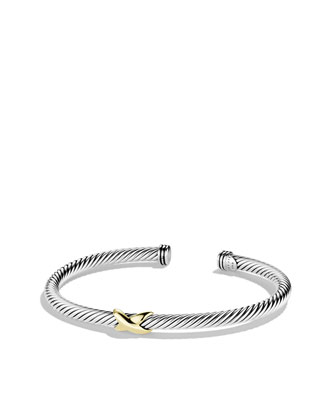 David Yurman X Bracelet with Gold - Neiman Marcus