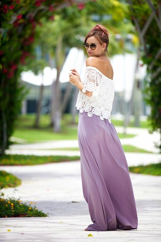 late afternoon skirt top shoes sunglasses jewels