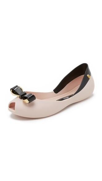 flats black pink shoes