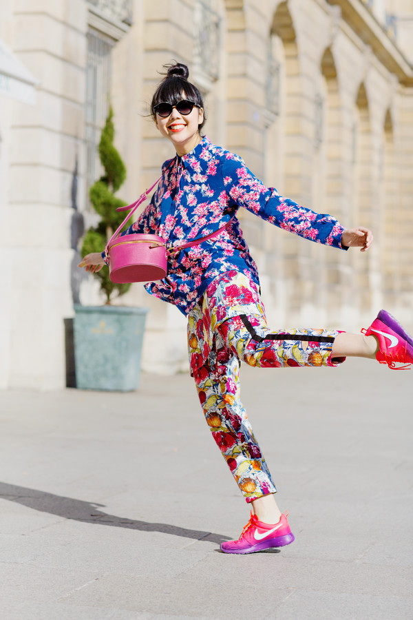 shirt susie lau susie lau floral flowers nike pants shoes & other stories blouse blue floral & other stories