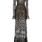 Lace and ajoure sheer long dress | moda operandi