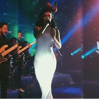 dress long dress white marina and the diamonds