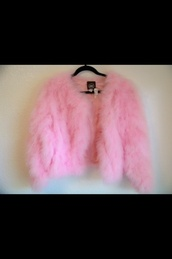coat,pink,fur,faux fur coat