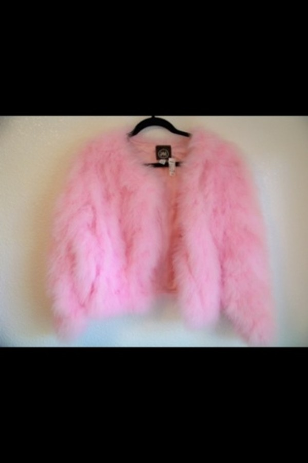 coat pink fur faux fur coat
