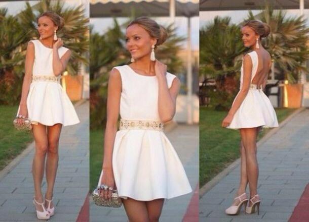 dress white skater dress