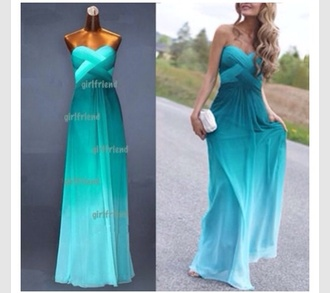 turquoise maxi dress strapless formal dress formal prom dress turquoise dress open back prom dress evening dress